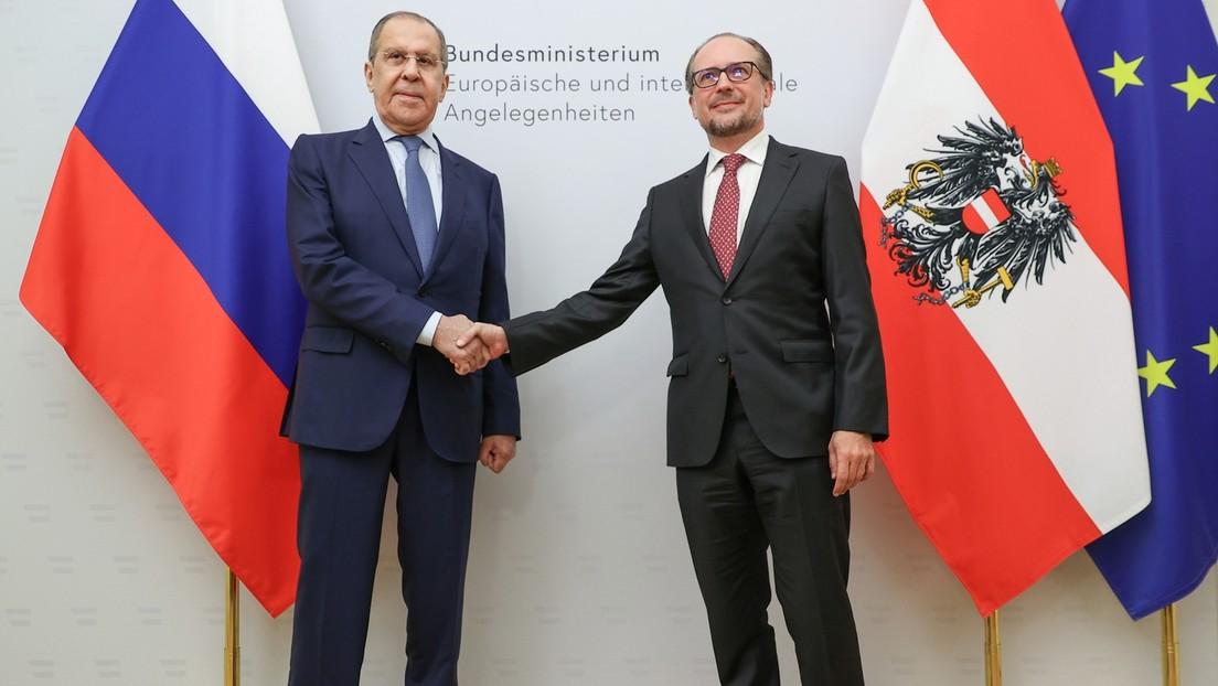 Inmitten angespannter Zeiten: Treffen der Außenminister von Russland und Österreich in Wien
