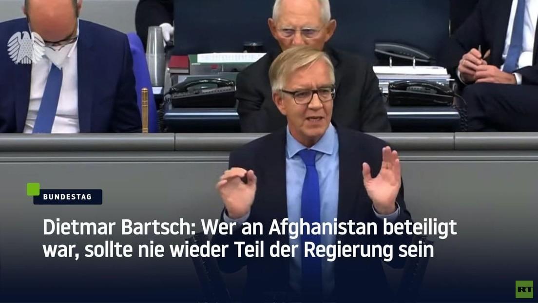 Dietmar Bartsch: Wer an Afghanistan beteiligt war, sollte nie wieder Teil der Regierung sein