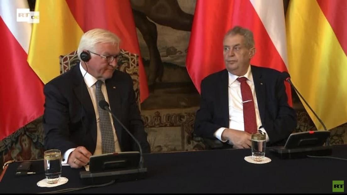 LIVE: Präsident Steinmeier und sein tschechischer Amtskollege Zeman geben Pressekonferenz in Prag