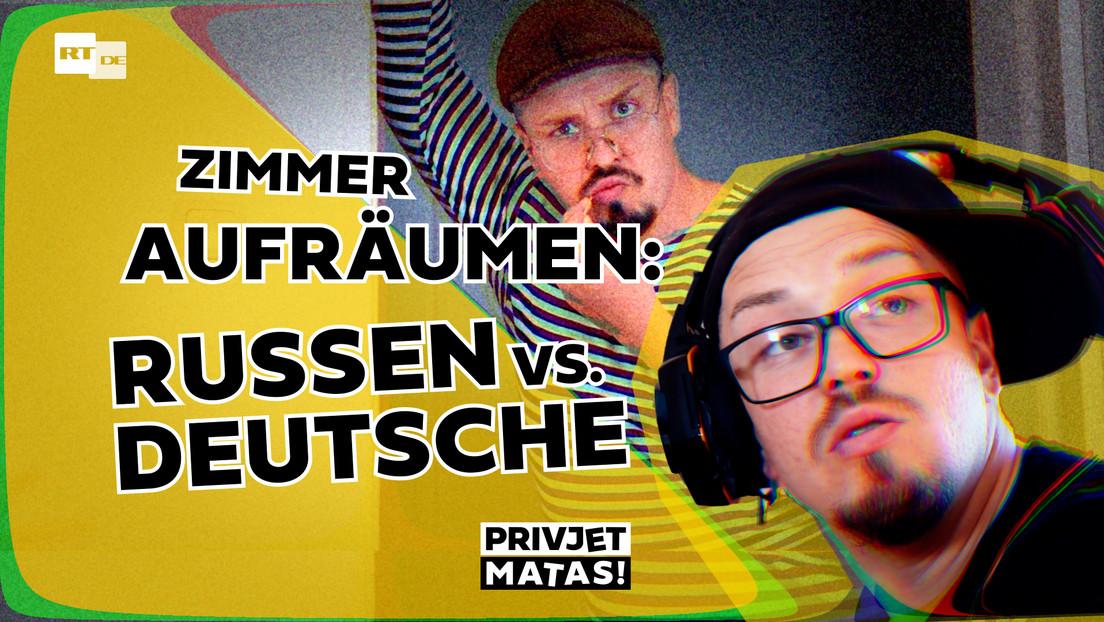Zimmer aufräumen: Deutsche vs. Russen | Privjet Matas!