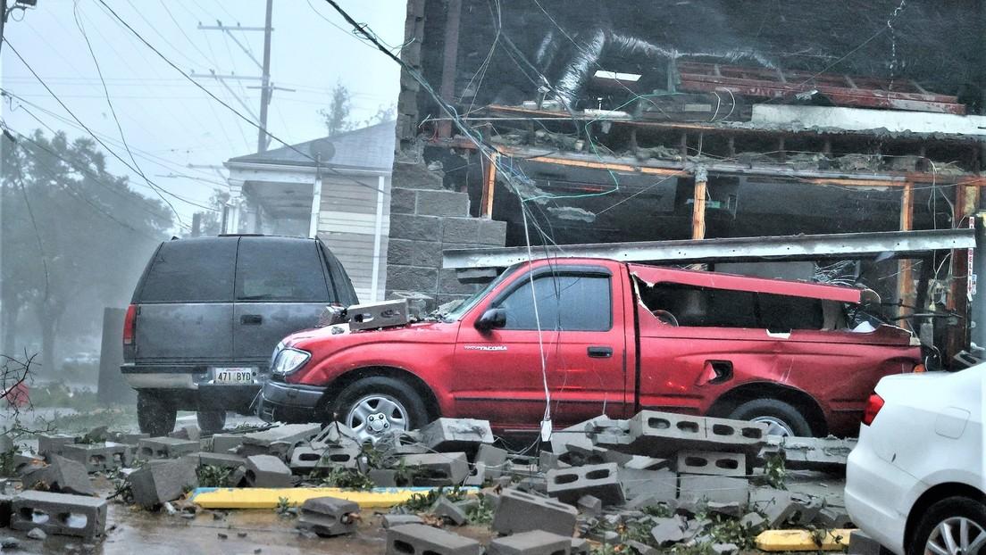 Nach Hurrikan Ida: Stromausfall und überflutete Straßen im US-Bundesstaat Louisiana