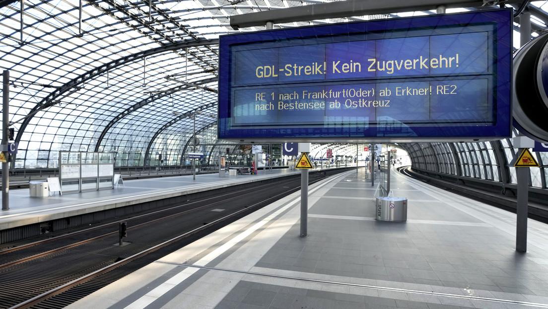 GDL kündigt siebentägigen Streik bei der Bahn ab Mittwoch an
