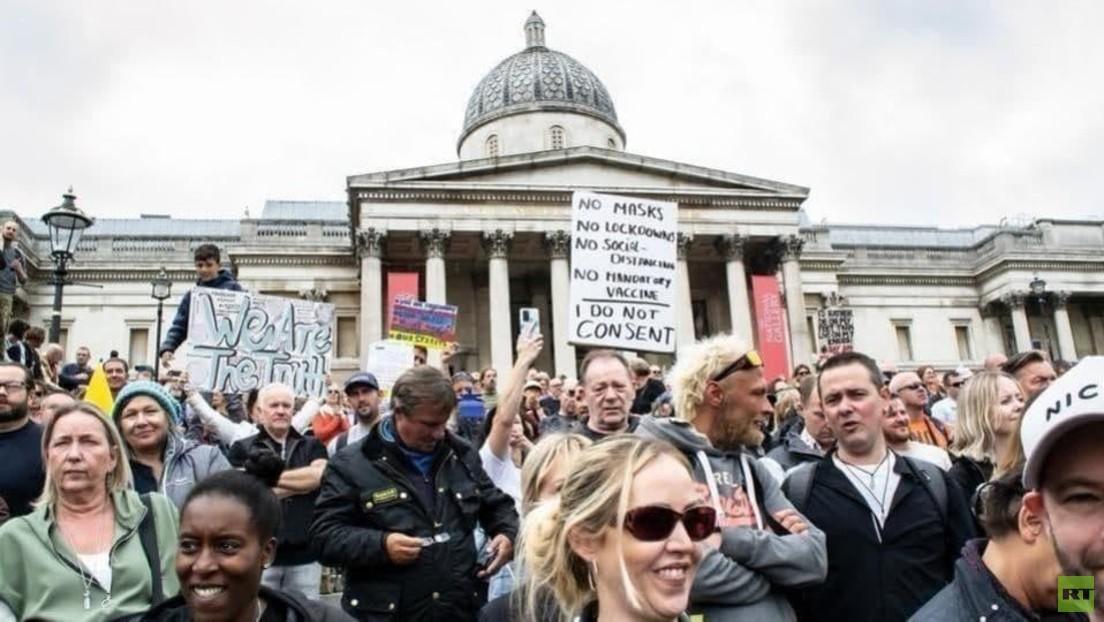 LIVE aus London: Protest gegen Corona-Politik und Pflichtimpfungen