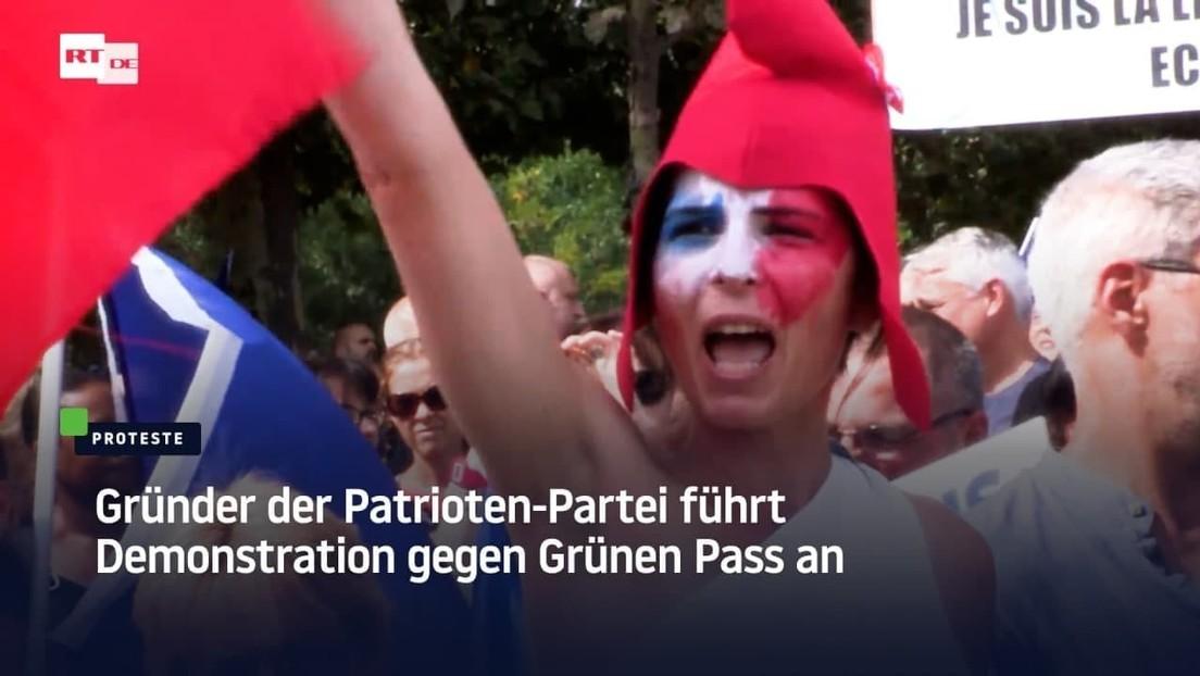 """Patrioten-Partei führt Protest gegen Grünen Pass an: """"Zurück zum Taschenrechner, zählen lernen"""""""