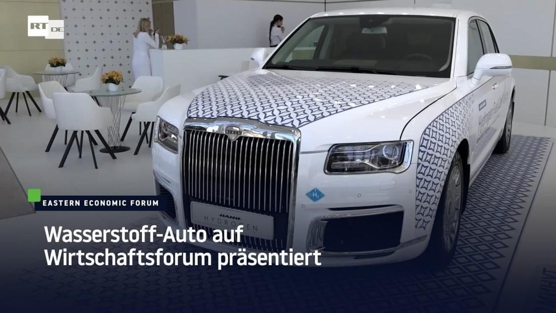 Russland: Wasserstoff-Auto auf Wirtschaftsforum präsentiert