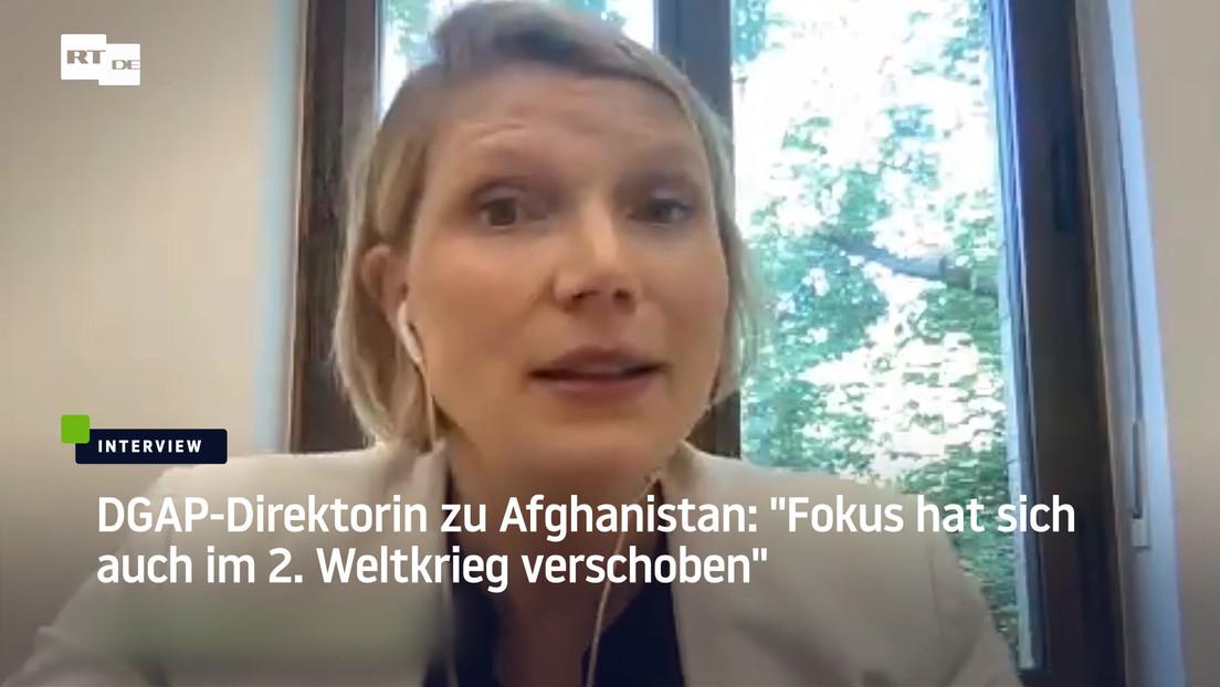 """DGAP-Direktorin zu Afghanistan-Fiasko: """"Fokus hat sich auch im Zweiten Weltkrieg verschoben"""""""