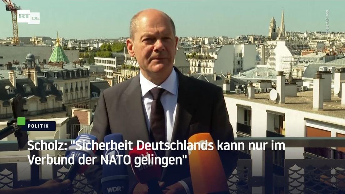 """Scholz: """"Sicherheit Deutschlands kann nur im Verbund der NATO gelingen"""""""