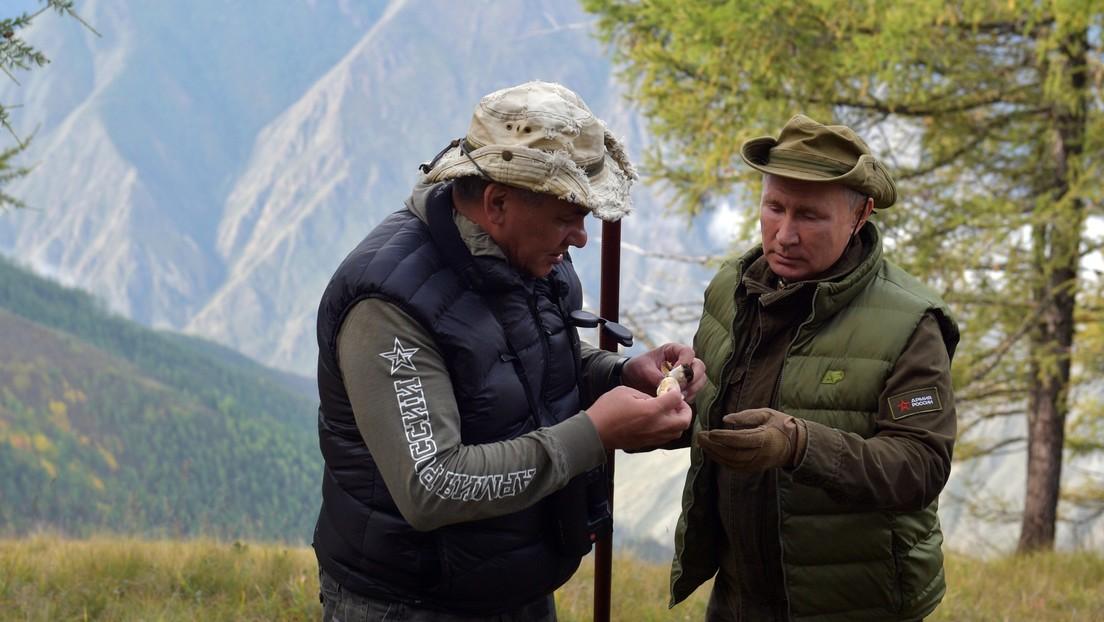 Russland: Putin und Verteidigungsminister erholen sich in sibirischer Taiga