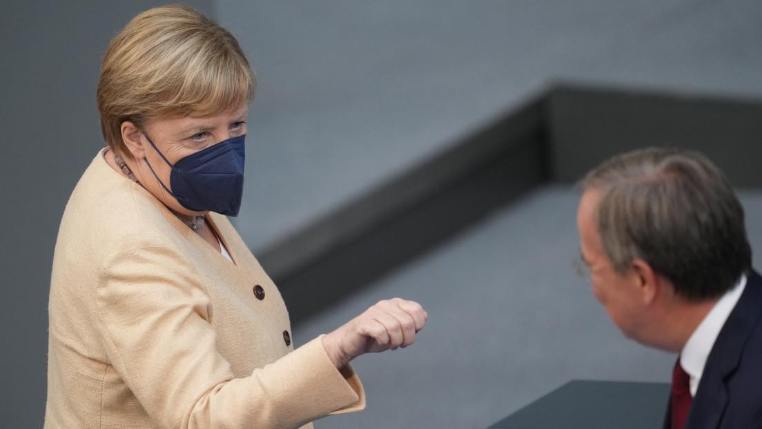 Umfragewerte der Union historisch niedrig – Kanzlerin Merkel wirbt im Bundestag für Laschet