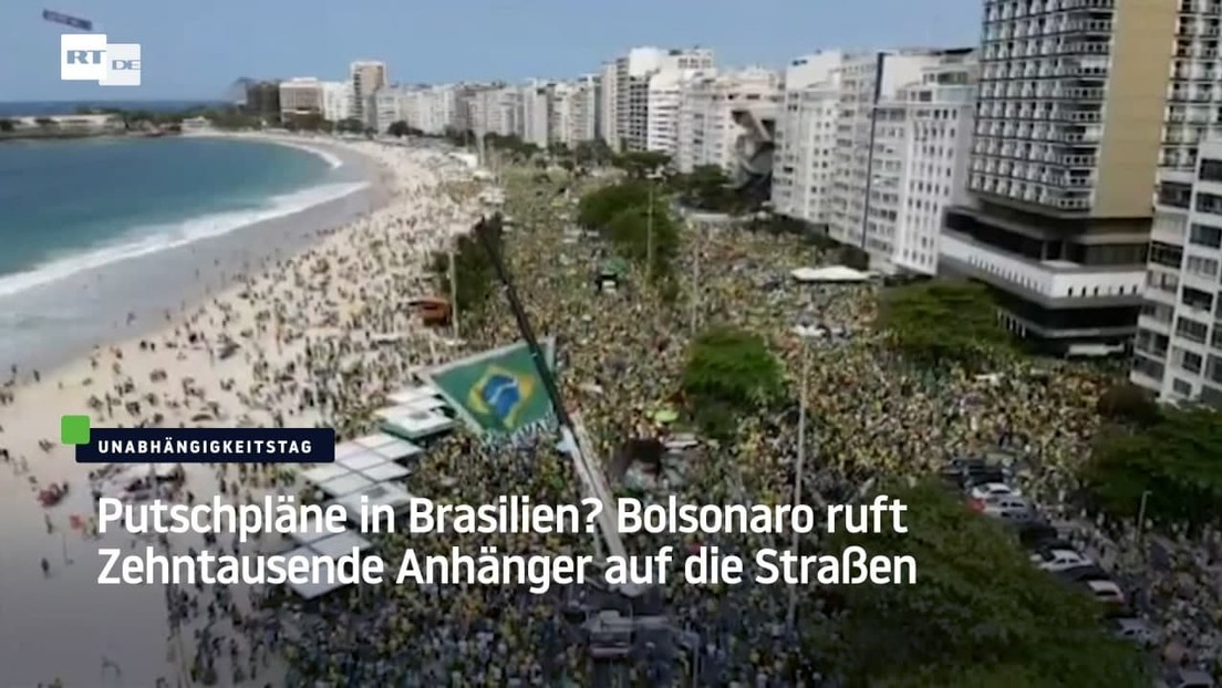 Putschpläne in Brasilien? Bolsonaro ruft Zehntausende Anhänger auf die Straßen