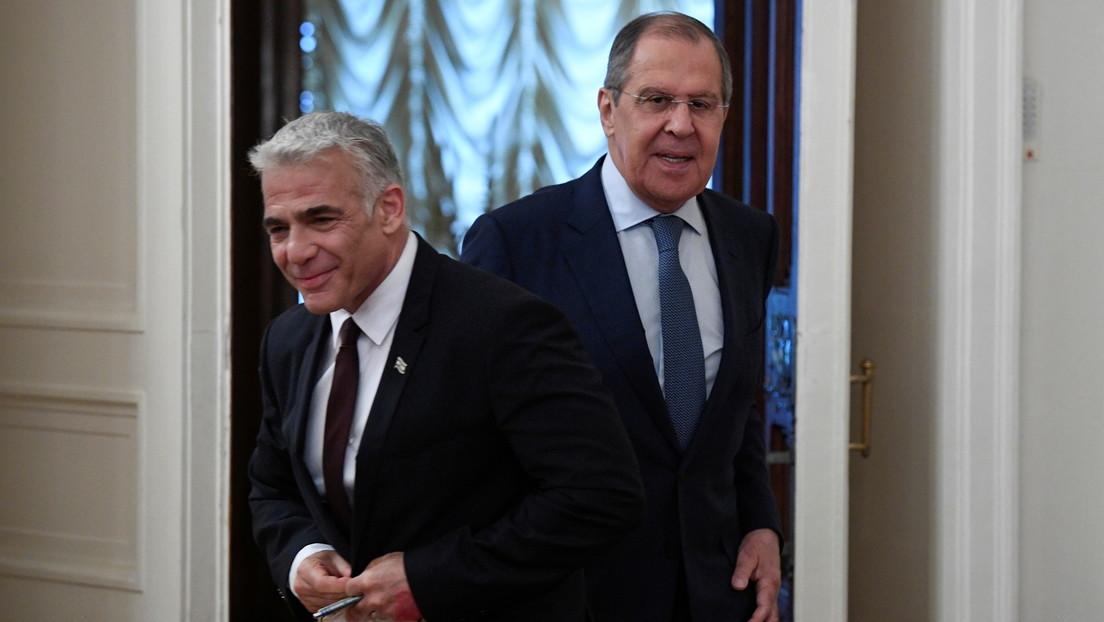 Lawrow nach Treffen mit Lapid in Moskau: Russland unterstützt Syrien beim Schutz seiner Souveränität