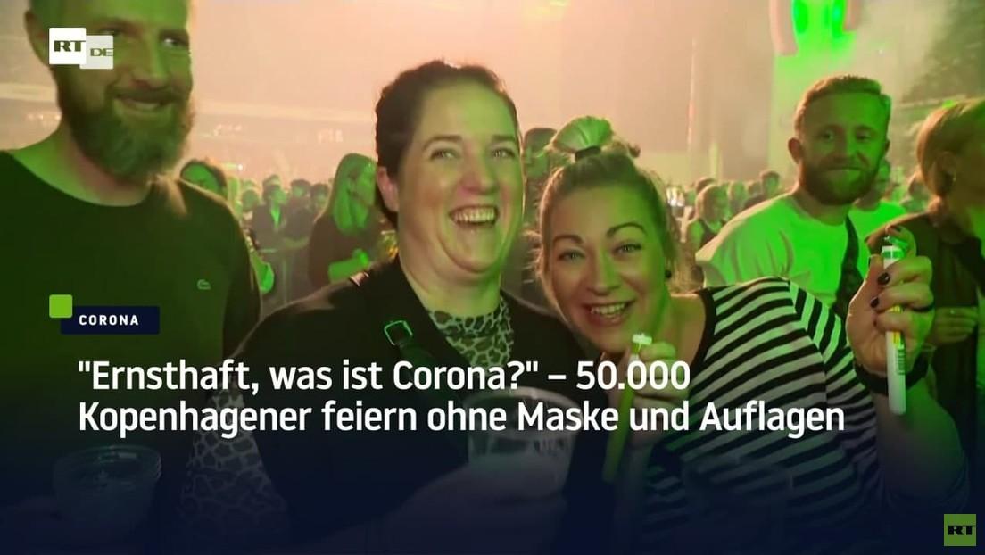 """""""Ernsthaft, was ist Corona?"""" – 50.000 Kopenhagener feiern ohne Maske und Auflagen"""
