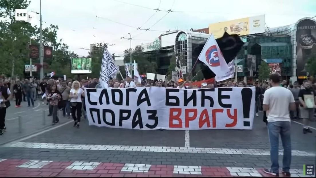 LIVE: Protest in Belgrad gegen angekündigte neue Corona-Maßnahmen