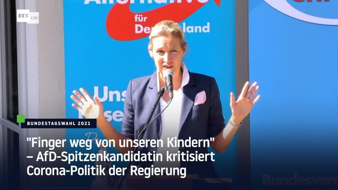 """""""Finger weg von unseren Kindern"""" – AfD-Spitzenkandidatin kritisiert Corona-Politik der Regierung"""