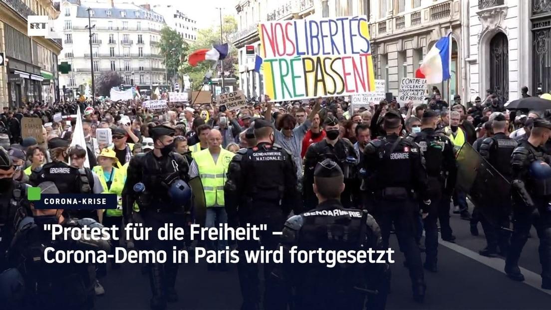 """""""Protest für die Freiheit"""" – Corona-Demo in Paris wird fortgesetzt"""