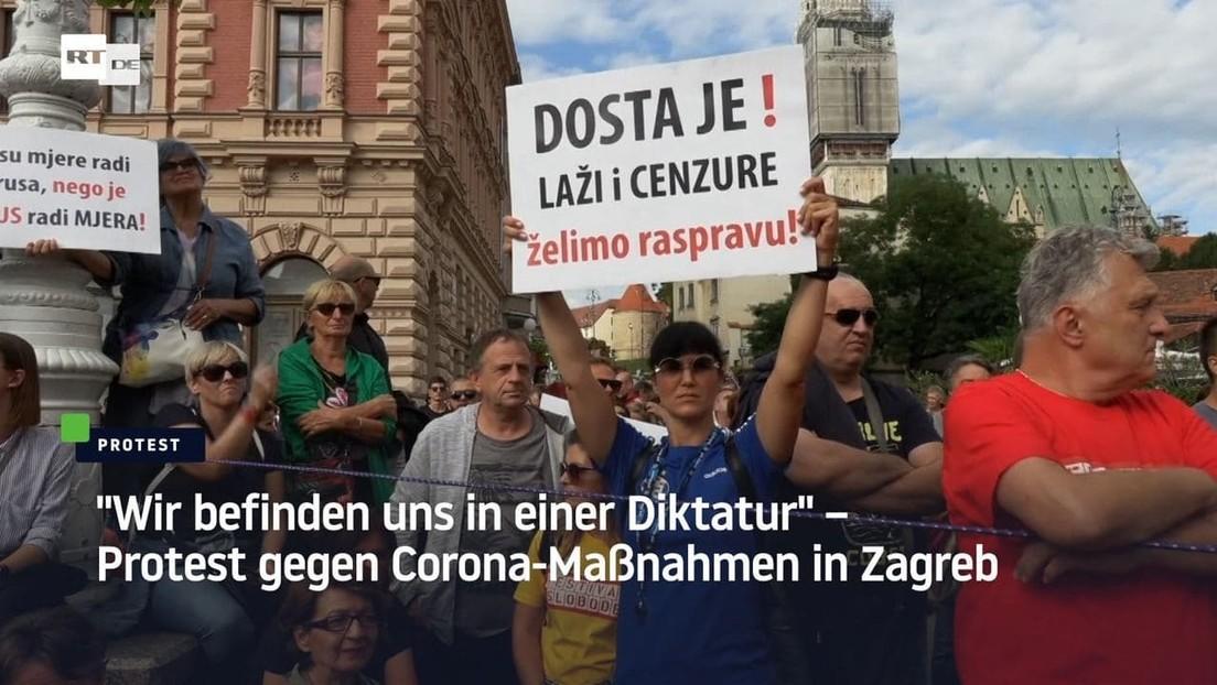 """""""Wir befinden uns in einer Diktatur"""" – Protest gegen Corona-Maßnahmen in Zagreb"""