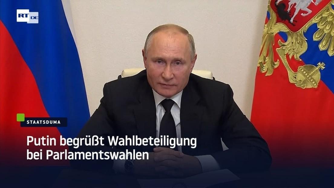 Putin begrüßt Wahlbeteiligung bei Parlamentswahlen