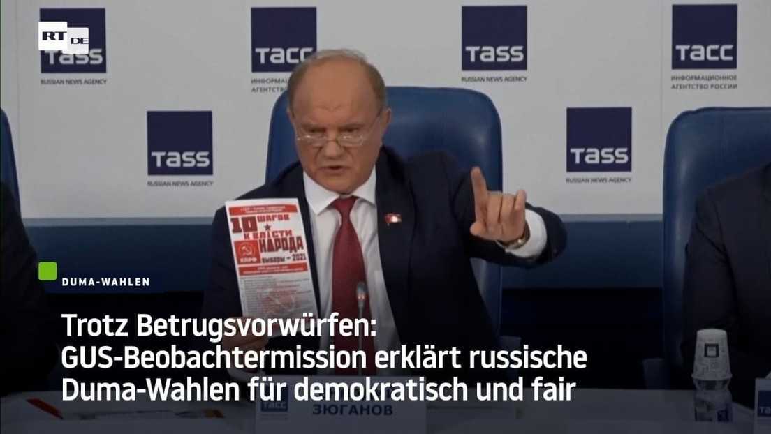 Trotz Betrugsvorwürfen: GUS-Beobachter erklären russische Duma-Wahlen für demokratisch und fair
