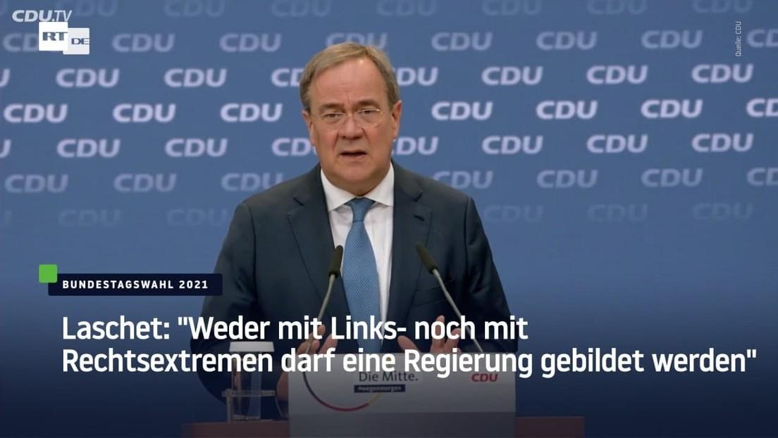 """Laschet: """"Weder mit Links- noch mit Rechtsextremen darf eine Regierung gebildet werden"""""""
