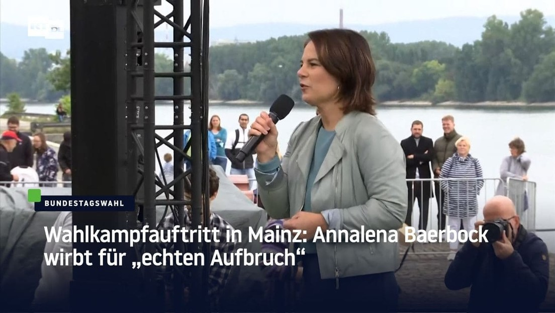 """Baerbock wirbt auf Wahlkampfauftritt in Mainz für """"echten Aufbruch"""""""