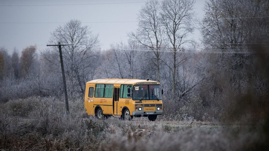 Vier Verletzte bei Verkehrsunfall mit Schulbus in Russland