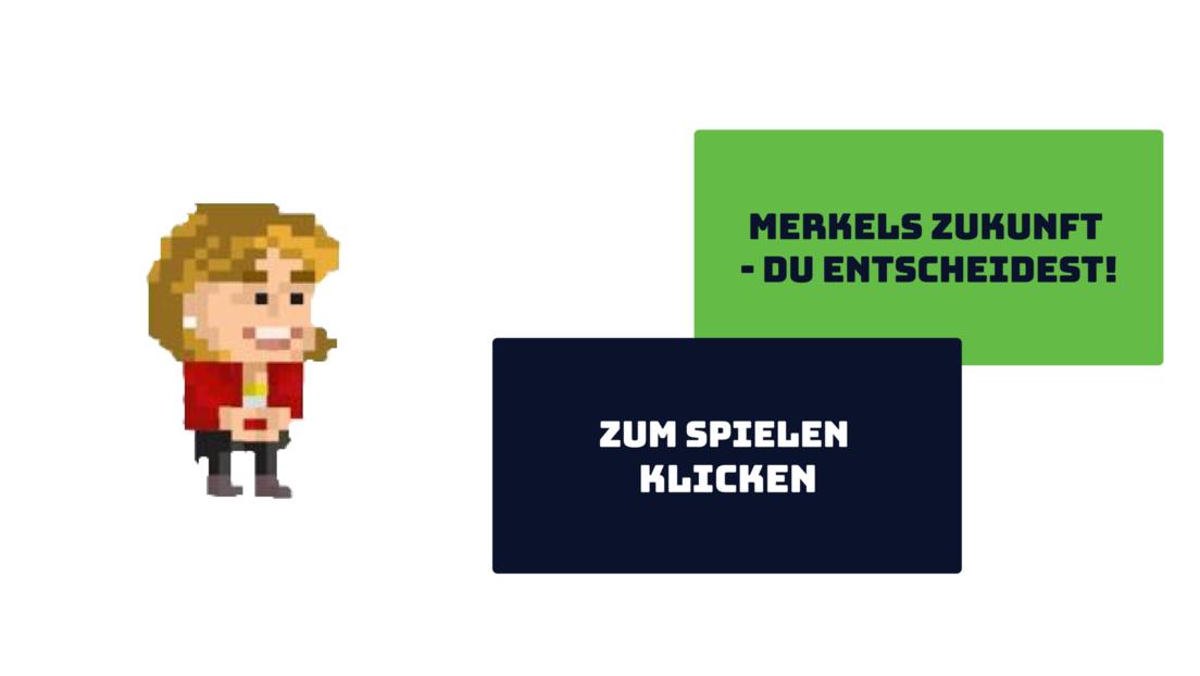 Neues Online-Spiel von RT DE: Merkels Zukunft - du entscheidest!