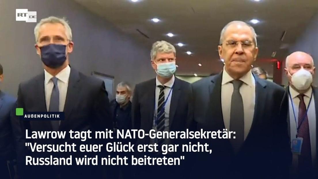 Lawrow trifft NATO-Generalsekretär am Rande der UN-Vollversammlung
