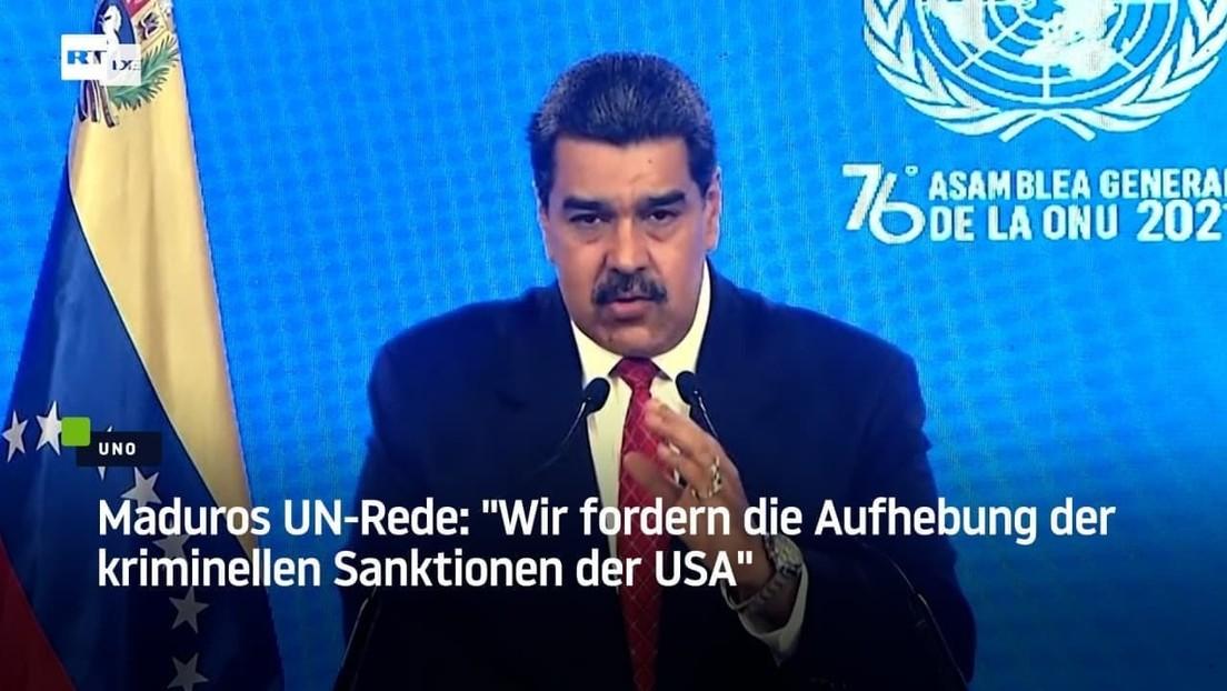 """Maduros UN-Rede: """"Wir fordern die Aufhebung der kriminellen Sanktionen der USA"""""""