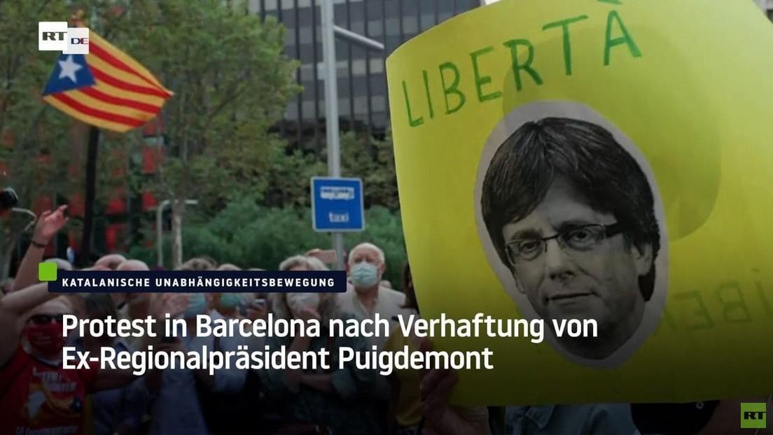 Protest in Barcelona nach Verhaftung von Ex-Regionalpräsident Puigdemont