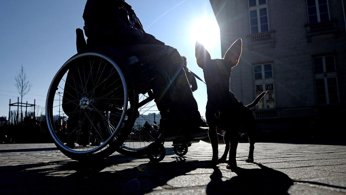 Rollstuhlfahrer verteidigt seinen Vierbeiner vor Hundemeute