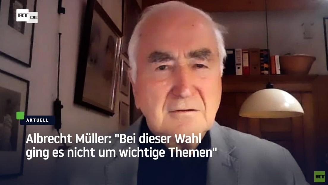 Albrecht Müller zur Bundestagswahl 2021: Bei dieser Wahl ging es nicht um wichtige Themen