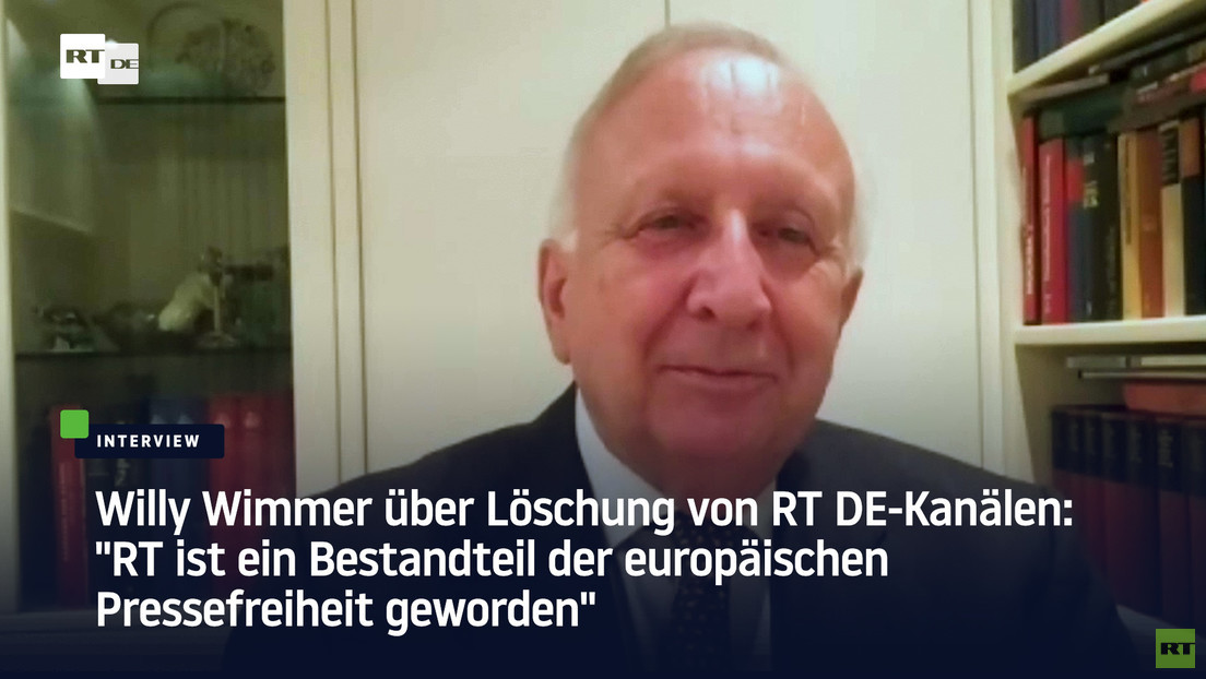 """Willy Wimmer über Löschung von RT DE-Kanälen: """"RT ist Bestandteil der europäischen Pressefreiheit"""""""