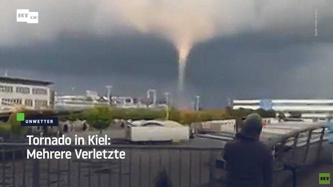 Tornado in Kiel: Mehrere Verletzte
