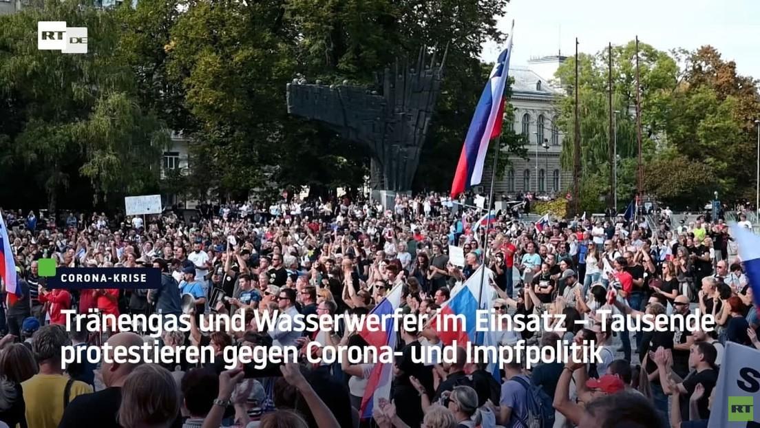 Slowenien: Tränengas und Wasserwerfer im Einsatz – Proteste gegen Corona- und Impfpolitik