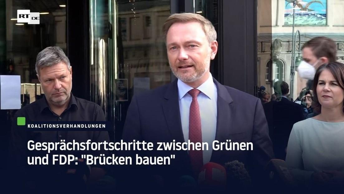 """Gesprächsfortschritte zwischen Grünen und FDP: """"Brücken bauen"""""""