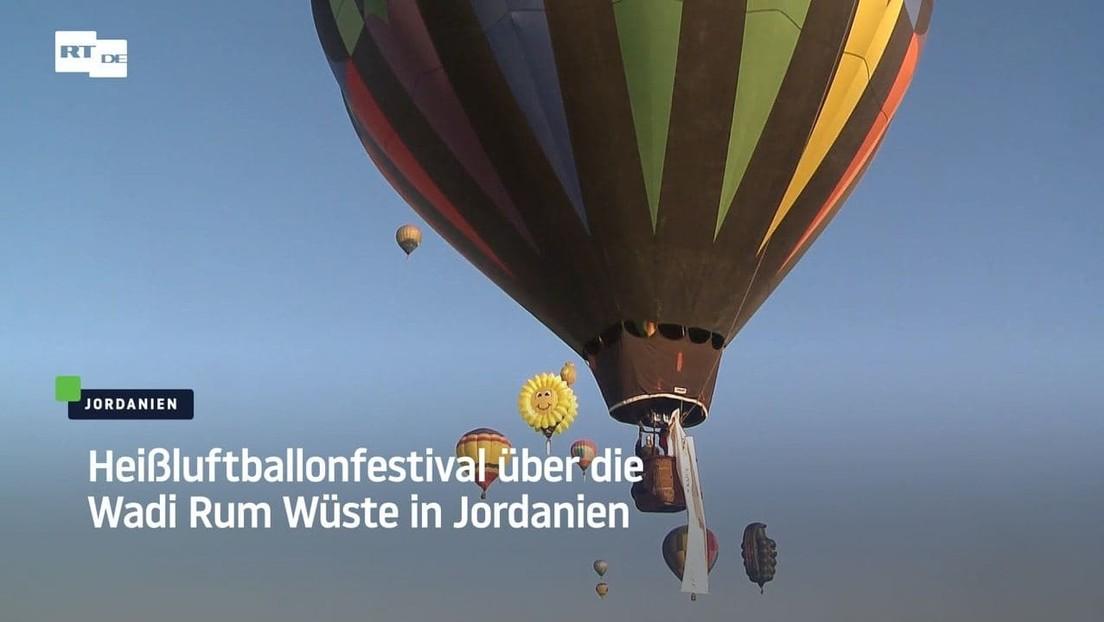 Heißluftballonfestival über dem Wadi Rum in Jordanien