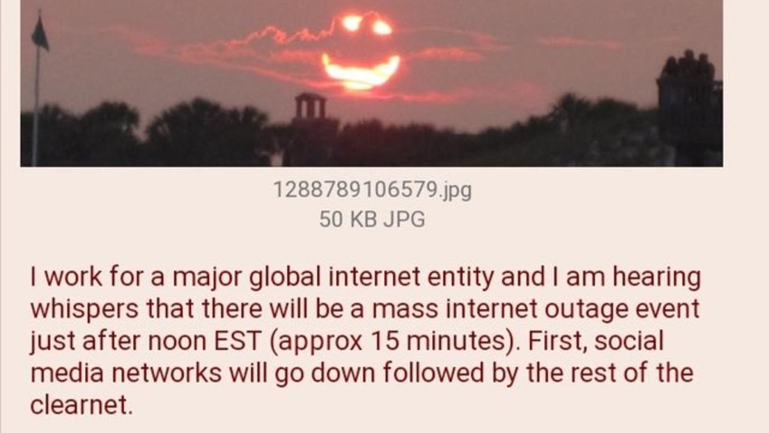 Globaler Ausfall der Onlinedienste wurde eine Viertelstunde vor Beginn auf 4chan angekündigt