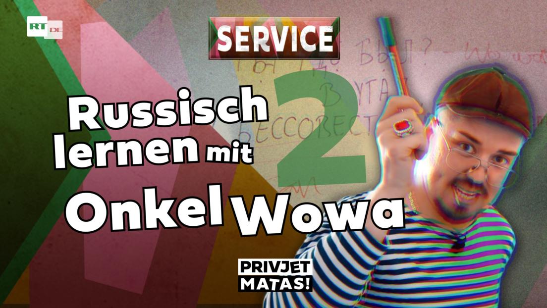 Russisch lernen mit Onkel Wowa Teil 2   Privjet Matas! - Service