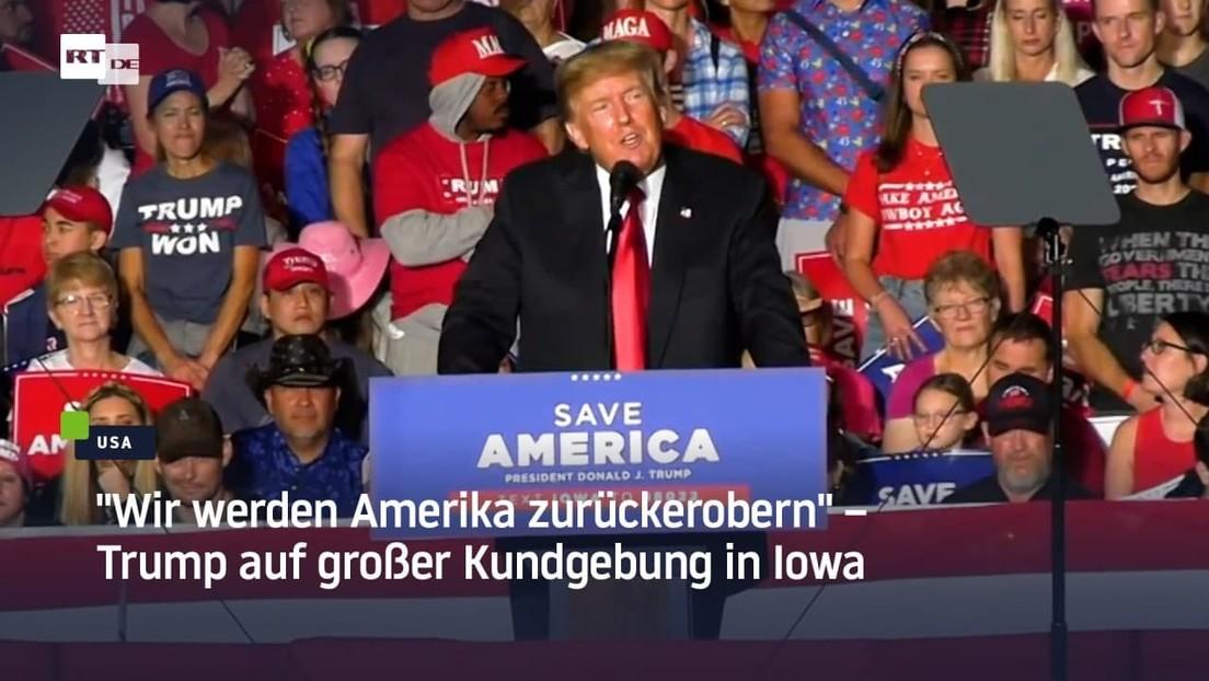 """""""Wir werden Amerika zurückerobern"""" – Trump auf großer Kundgebung in Iowa"""