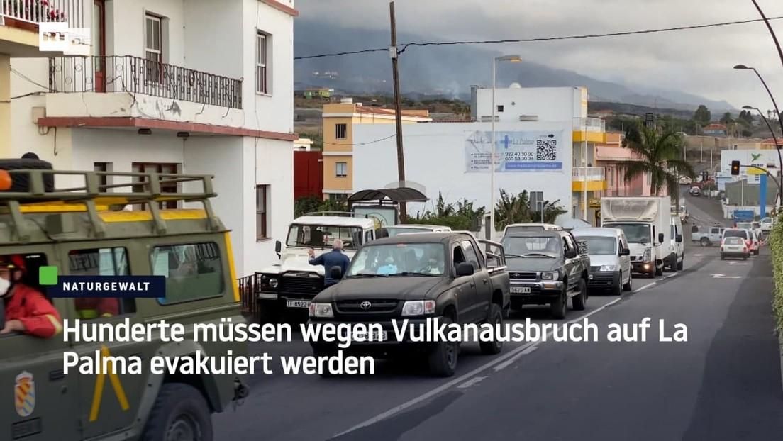 Hunderte müssen wegen Vulkanausbruch auf La Palma evakuiert werden
