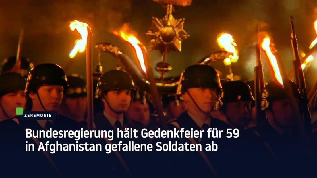 Deutschland: Bundesregierung hält Gedenkfeier für 59 in Afghanistan gefallene Soldaten ab