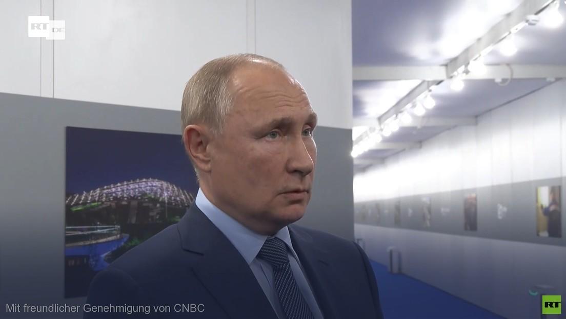 Putins Nachfolge, niedrige Einkommen in Russland und Nawalny: Wladimir Putin im Interview mit CNBC