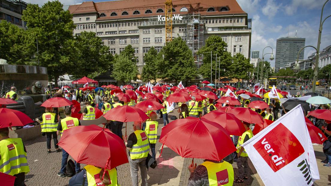 """""""Fassungslosigkeit und Wut"""" – Beschäftigte im Einzelhandel streiken in Berlin und Brandenburg"""