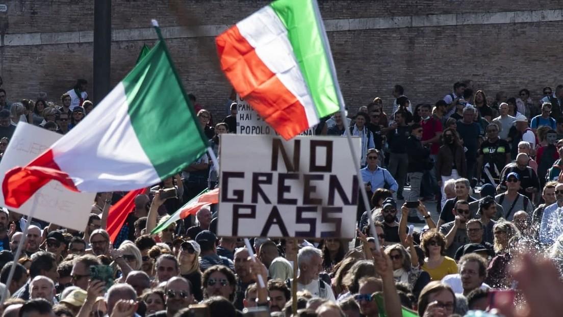 LIVE: Rom – Erneute Proteste gegen Grünen Pass