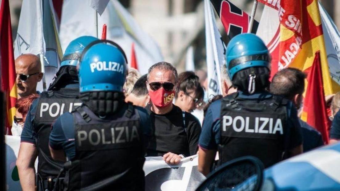 LIVE aus Rom: Antifa gegen Corona-Protest von rechtsextremer Partei