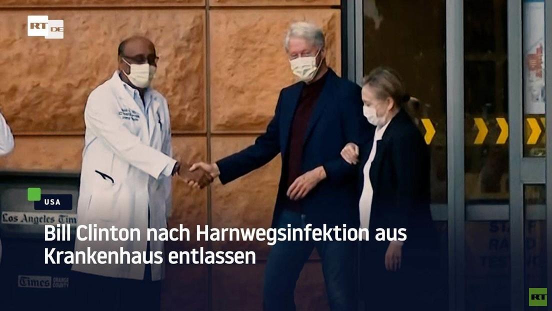 Bill Clinton nach Harnwegsinfektion aus Krankenhaus entlassen