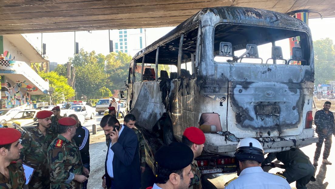 Syrien: Tote und Verletzte nach mutmaßlichem Terroranschlag auf Bus in Damaskus