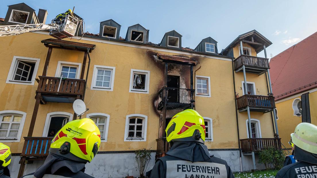 Bayern: Drei Frauen und ein Baby sterben bei Brand eines Mehrfamilienhauses