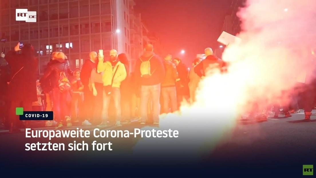 Europaweite Proteste gegen Corona-Maßnahmen setzen sich fort