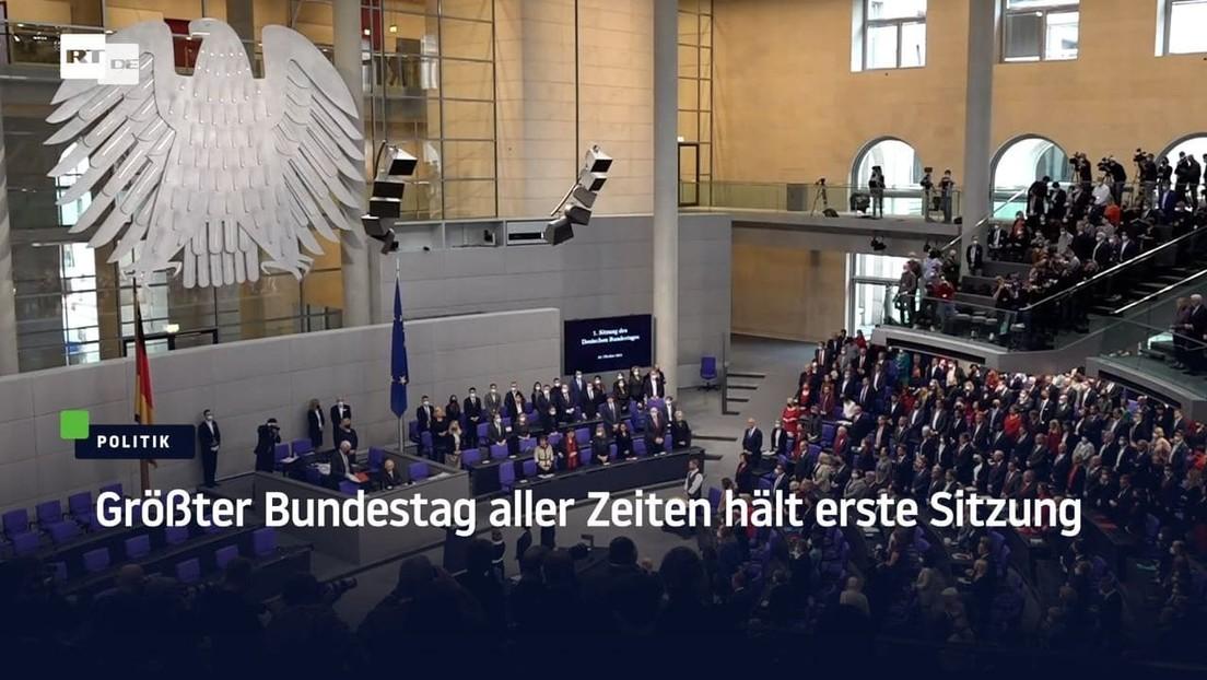 Größter Bundestag aller Zeiten hält erste Sitzung